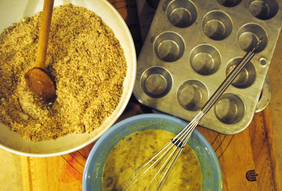 Banana Muffins Mixing Bowls