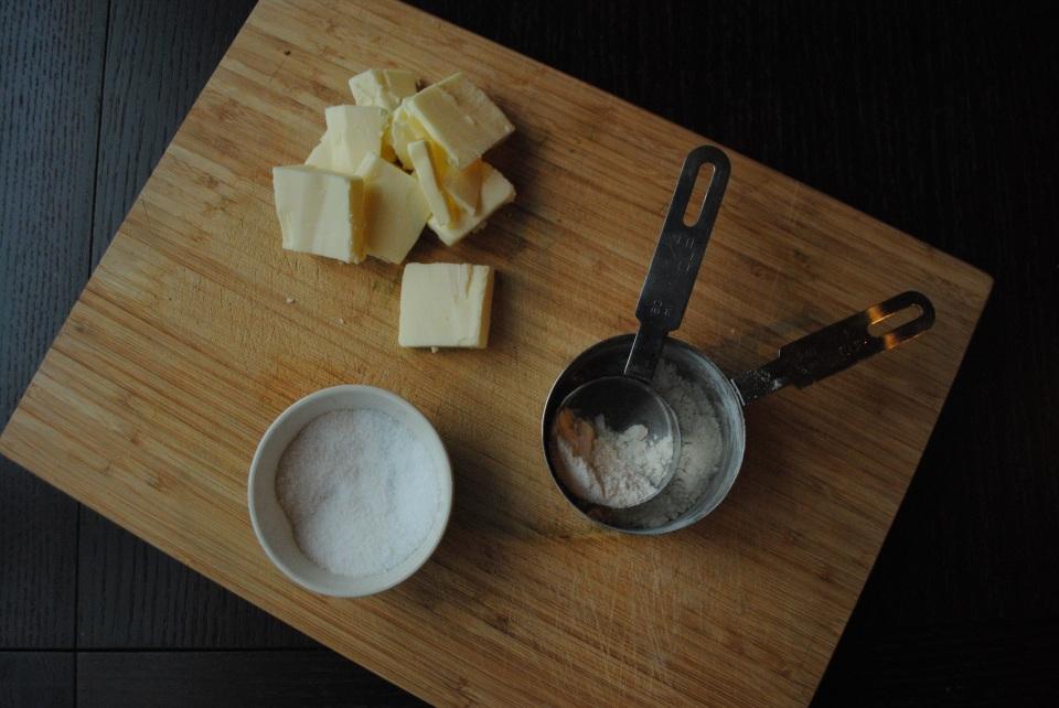 Flour, salt, butter